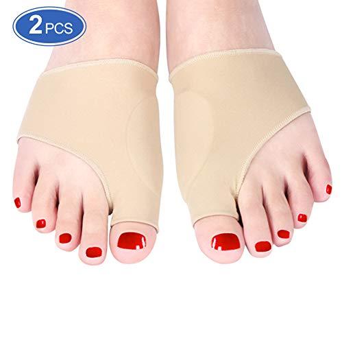 Haofy alluce valgo correttore, separatore dita piede per l'uso diurno e notturno, tutore per borsite ortopediche protettore manica uomini e donne, aiuta a ridurre il dolore al piede