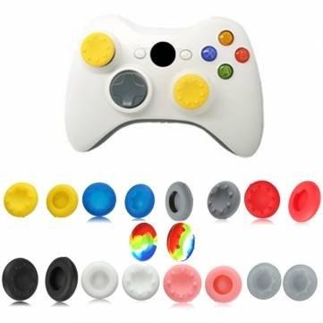 Couvre Cap Grip bouton de Man Friday pad analogique silicone pour manette Xbox 360 - Green