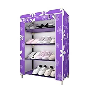Sterling Shoe Racks for Home, Shoe Rack with Cover 4 Layer Multipurpose Shoes Stand for Shoe Storage Organizer Cabinet