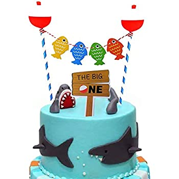 Groovy The Big One Cake Topper Gone Fishing Bobber Cake Toppers Funny Birthday Cards Online Eattedamsfinfo
