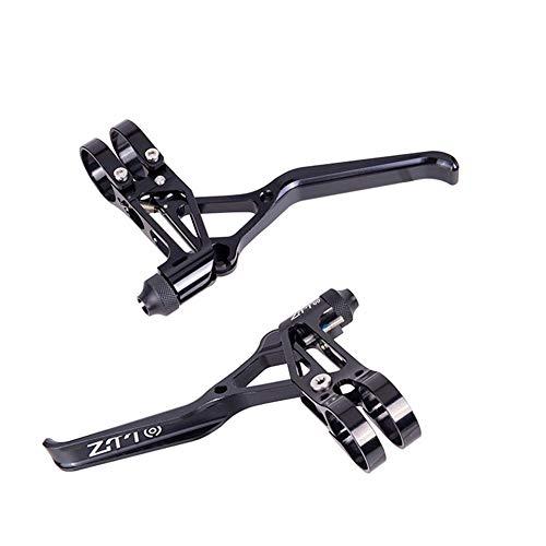 CHOULI 1 Paar Aluminium Fahrradbremsen V Bremshebel Bremskapazitäten Griff schwarz -