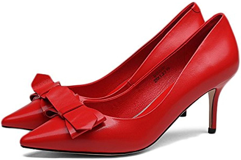 snfgoij Femme Noir Noir Femme Hauts Talons Mode Sexy Cour De Travail Chaussures Mariage,Red-8.8cm-EU:35/UK:3B07CR16997Parent 1b4f4b
