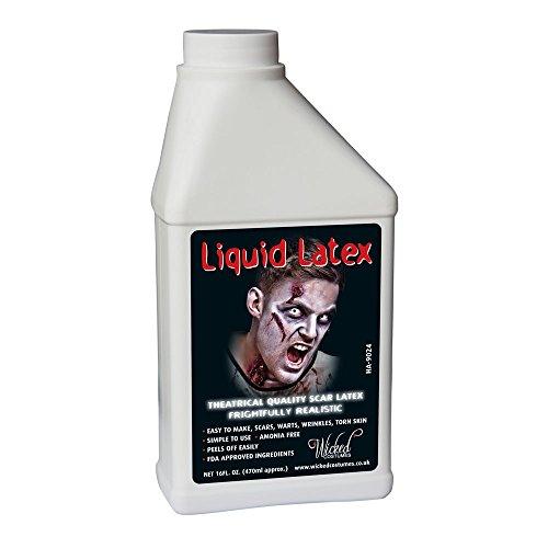 Liquid Latex - 16oz (500ml) Karneval / Halloween Make Up Zubehör (Halloween Latex)