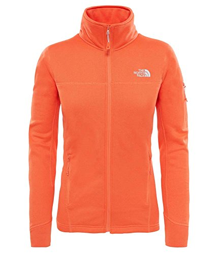 North Face W Kyoshi Full ZP Jkt – Jacke, Damen, Orange (Nasturtium Ornge DRK HTHR)