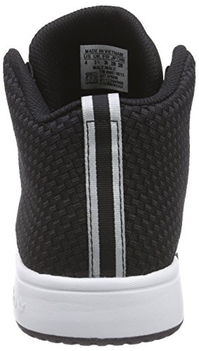 adidas Originals Veritas Mid Weave Unisex-Erwachsene Basketballschuhe Schwarz (Core Black/Core Black/Ftwr White)