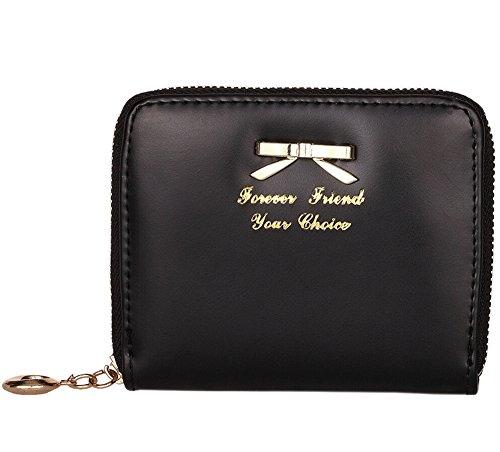 Portafoglio in Pelle Raccoglitore Donna Carta Borsa Arco Signore Portamonete Porta Documenti nero