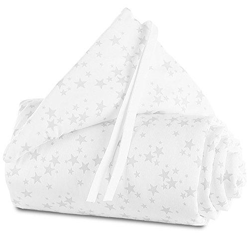 Preisvergleich Produktbild babybay Nestchen Pique für Original, weiß Sterne perlgrau