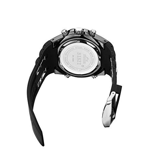 binzi–Bracciale-da-uomo-impermeabile-sport-orologio-da-militare-orologi-Digital-orologio-lusso–Luce-LED-Dual-Display-con-cinturino-in-silicone-nera