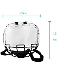 Visière de protection de hockey avec PC lunettes et protège-menton en acier A3 approprié à la plupart des casques de hockey sur glace