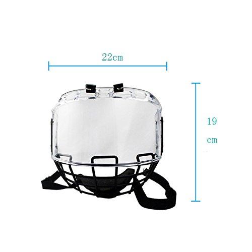 GY Nebemschutz und Schabungschutz zu verstärken Eishockey Helmvisier Helm Gesicht Schild mit Maske