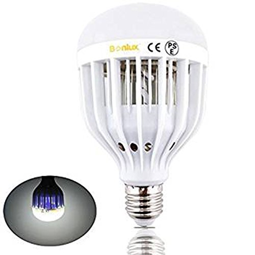 Hoch, Licht Im Freien (Bonlux E27 LED Bug Zapper Glühbirne 10W kühlen weißen Schraube ES Base 2-in-1 im Freien Mosquito fliegt Wespen Motten Insekten Zapper Killer LED UV-Lampe für Home Kitchen Garage Patio Veranda)
