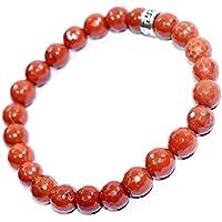 Bracelet Red Jasper Natural Diamond Cut 8 MM Birthstone Handmade Healing Power Crystal Beads preisvergleich bei billige-tabletten.eu