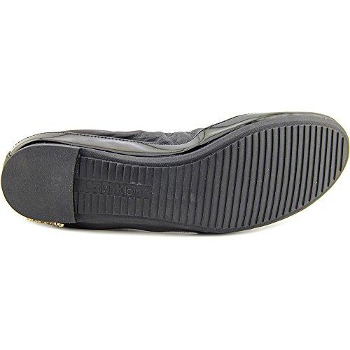 Calvin Klein Anabelle Cuir Chaussure Plate Black