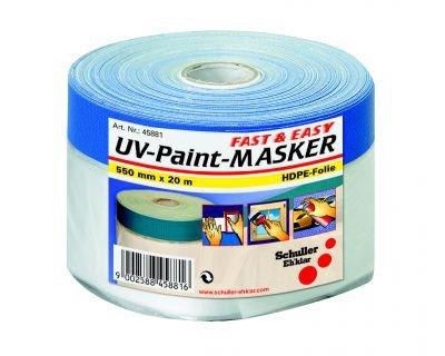 SCHULLER Maler-Abdeckfolie mit Klebeband | Targa Blue Mask | UV beständig | 110 cm x 20 m | 1 Rolle
