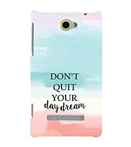 EPICCASE Keep day dreaming Mobile Back Case Cover For HTC One Max (Designer Case)