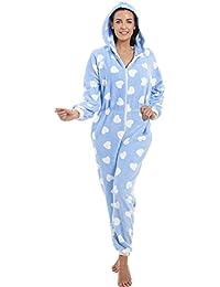 Camille Erwachsener und Kind Herz Alles in Einem Onesie Pyjama