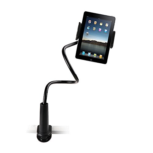 TiooDre Flexible Desktop Phone Tablet Stand Holder For iPad Mini Air Samsung For iPhone 3.5-10.5 Inch Lazy Bed Tablet PC Stands Mount, Black