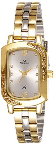 Maxima Analog Silver Dial Women's Watch - 41420CMLT
