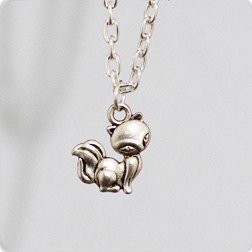 Collar de Fox, fox, joyas, collar animal, de invierno joyas, Animal, joyas, diseño de collar, simple collar con colgante, collar de niña