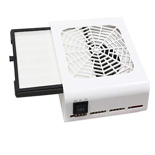 Nail Staubsauger Einstellbar Reinigung Ausrüstung Leistungsstark Nagel Vakuum Reiniger Maschine 40W Filter Single Ventilator -