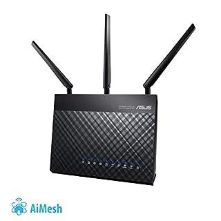 Asus DSL-AC68U Modem Router (Ai Mesh WLAN System, EU und DE-Version Annex A B J, WiFi 5 AC1900 MIMO, 4x Gigabit LAN, AiProtection, Dual-Core CPU, Multifunktion USB 3.0) (B00MMMO9M4) | Amazon price tracker / tracking, Amazon price history charts, Amazon price watches, Amazon price drop alerts