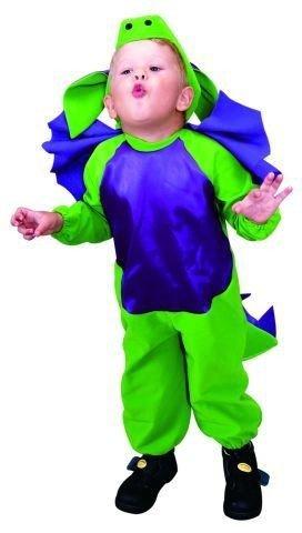 Foxxeo 10205 | Drachen Kostüm grün für Kinder, Größe:98/104