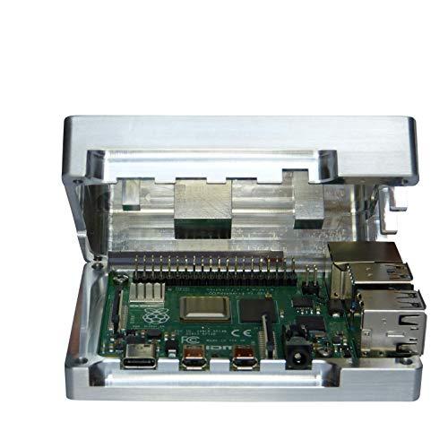 MANOUII Raspberry Pi 4 Gehäuse Alu integrierte CPU Passivkühlung Raspi kein Lüfter erforderlich Metall passiv Kühlkörper Kühler Passivkühler S Case Baseline Raspbarry Aluminium Alugehäuse