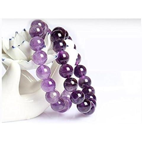 OUYANG Magia naturale ametista bracciale , dark purple -12 mm diameter
