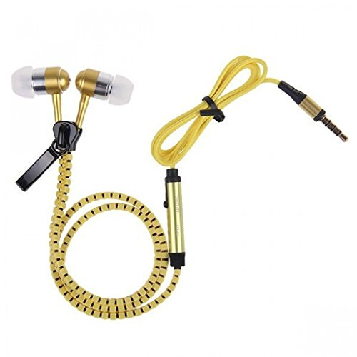 Mobile Link Karbonn Kphone K1 Compatible In-ear Round Wired Headphone Zipper Style/Earphone/Stereo Headphone (Yellow) with High Quality Sound/Deep Bass 3.5MM Jack  available at amazon for Rs.299