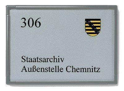 POV UNITEX F Targa porta mit singoli Etichetta in molti colori dimensioni - grigio ferro, 155 x 155 mm