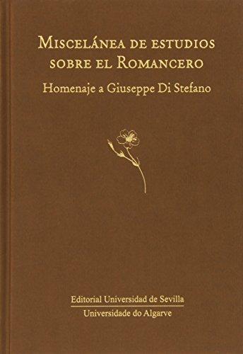 Miscelánea De Estudios Sobre El Romancero (Serie Literatura) por Aa. Vv.