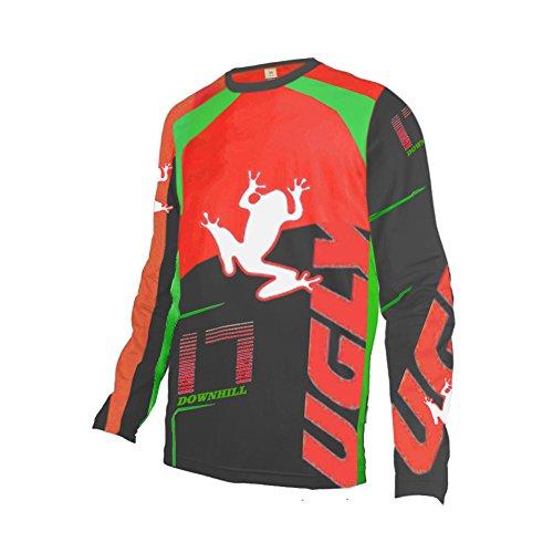 Uglyfrog DSJF02 2019 Jersey Mountain Bike Downhill Bike Jersey/Shirt Shirt Herren Long Sleeve Langarm Radtrikot Fahrradtrikot Radshirt Fahrradshirts Spring Style