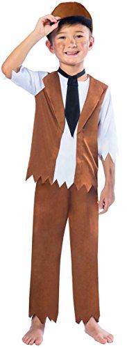 Viktorischer Junge Kinderkostüm 9-10 - Oliver Twist Kostüm