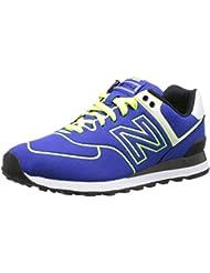New Balance Wl574neb - New Balance WL 574 NEB Blue Neon Yellow 36 Hombre