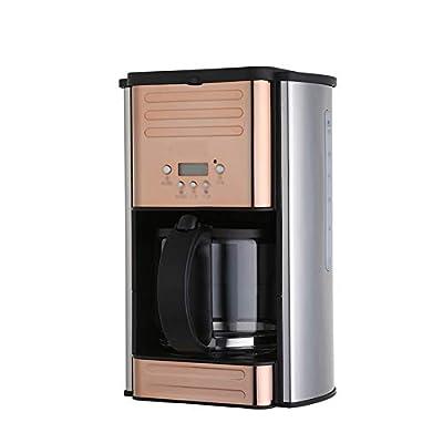 LJHA Coffee machine, drip coffee machine, American coffee machine, home coffee machine, commercial coffee machine, 280mm × 270mm × 405mm, rose gold by Made in Shanxi