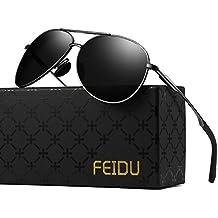 FEIDU Gafas de Sol Polarizadas Aviador Unisex FD 9001