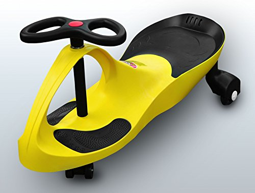 RIRICAR Gelb Spielzeugauto für Kinder - Antrieb durch Lenkbewegung, mit Flüsterrädern