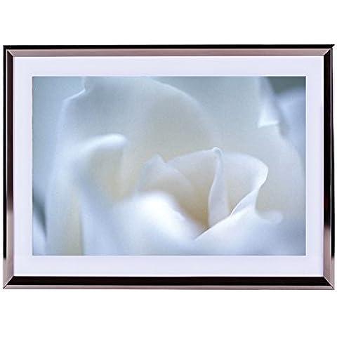 Stampa artistica da parete argento cornice in legno Picture–Together Forever, mai Apart. Forse in distanza ma mai a cuore. 40,6x 30,5cm