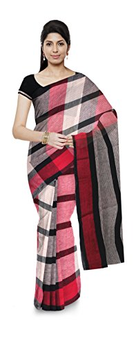 KHAMIR Kala Cotton Handloom Cotton Saree (Multi-Coloured)