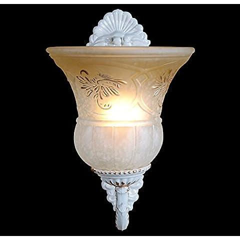 LINA-Regali di Natale Halloween Continental vetro hollow fuori lampada testa singola navata luci Club corridoio camera da letto lampada da comodino