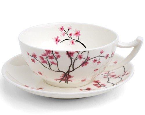 TeaLogic 2er SET Bone China Tasse & Untertasse