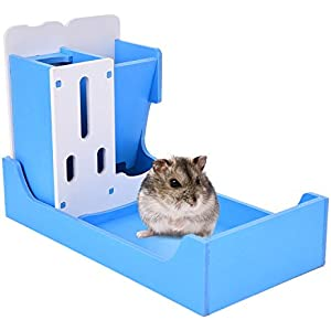 Zaote Small Pet Multi-functional Rack Water Drinking / Feeding / Toilet Rack for Hamster Chinchillas Guinea Pigs