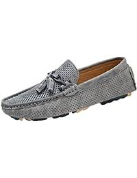 Fluores Scarpe casual da uomo Sneakers Summer Mesh Traspirante Confortevole Uomo Scarpe Mocassini Calzature Slipon Walking Gray 7