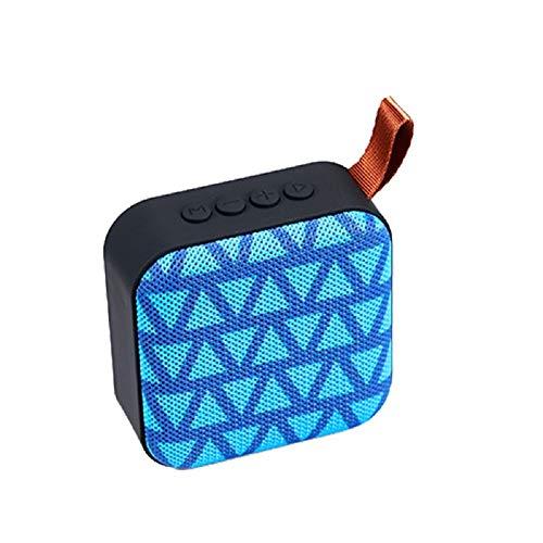 LinZec T5 Wireless Bluetooth Lautsprecher, USB AUX Plug TF Card Subwoofer, Mobile Phone Computer Universal Outdoor Portable Mini Wireless Cloth Network Audio,Blue