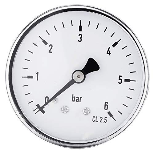 Nitrip 1 unid Metal Mini manómetro de alta precisión para combustible aire aceite líquido agua 0-6...