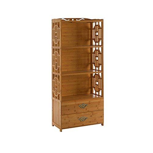 Bibliothèque Sexy Étagère en Bois Massif de de tiroir de Bambou de 4 Niveaux (Taille : 52 * 29 * 130cm)