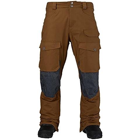 Burton MB Hellbrook–Pantaloni da snowboard, uomo, beaver tail/denim, XS
