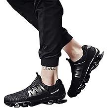 Bestow Gran tamaño de los Hombres Corbata de Moda los Zapatos Deportivos Casuales de Malla Transpirable
