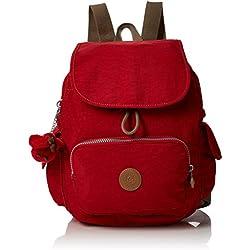 Kipling City Pack S, Mochila para Mujer, Rojo (True Red C), 27 x 33.5 x 19 cm