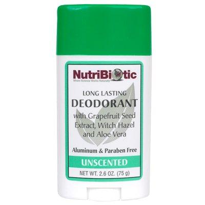 Long Lasting Deodorant Stick, ohne Duft, 2,6 Unzen (75 g) - NutriBiotic - Anzahl 1 (Deodorant Unzen 1 Stick)
